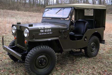 Army Jeeps Willys Jeep Cj 3b Willys Army Jeep Oiiiio