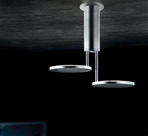 invader led small contemporary semi flush ceiling light