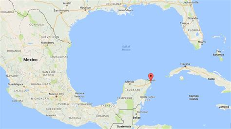 map of mexico with cancun canadian 33 detained in of 23 in