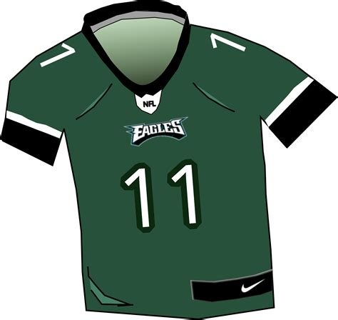 eagles nfl jersey vector clipart image  stock photo