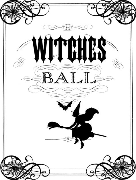 printable retro images vintage halloween printable the witches ball the