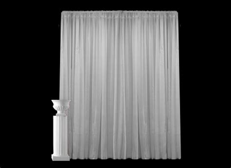 white draping white sheer drape grand audio visual services