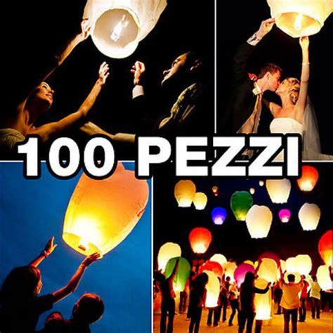 lanterna cinese volante 100 pz sky lantern lanterne cinesi volanti mongolfiera