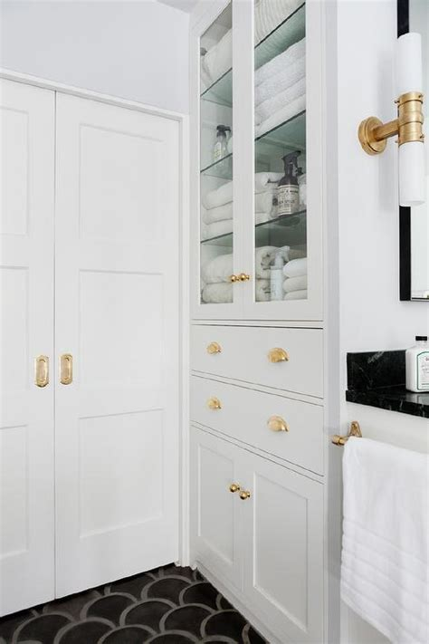White Bathroom Door by Bathroom Pocket Doors With Brass Hardware Contemporary