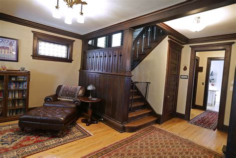 inside a refinished early 1900s arts and crafts style home