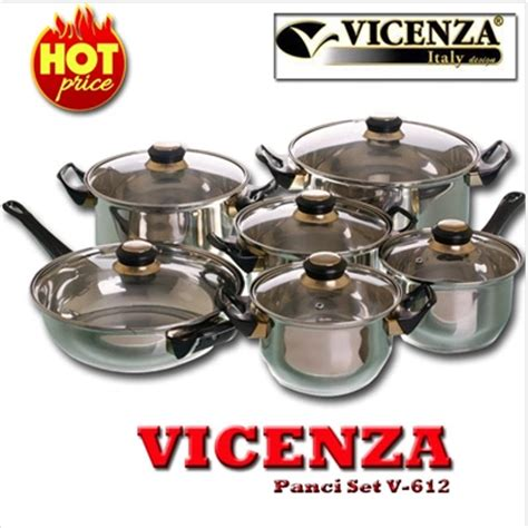 Vicenza Stainless Cookware promo vicenza vicenza panci set v 612 vicenza