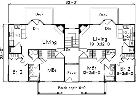 fourplex floor plans a fourplex with distinction 57090ha 1st floor master
