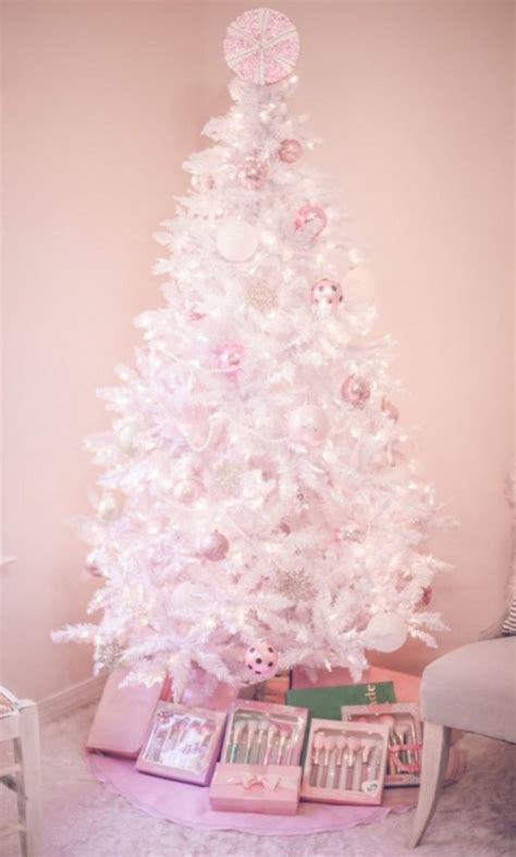 white tree with pink lights 20 chic ideas to decorate a white tree