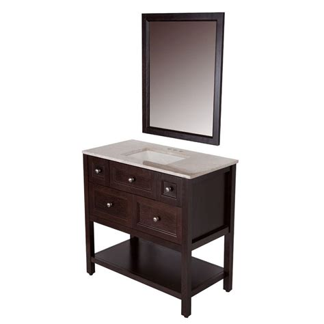 36 x 19 bathroom vanity glacier bay ashland 36 in w x 19 in d bath vanity in chocolate with stone effects vanity top