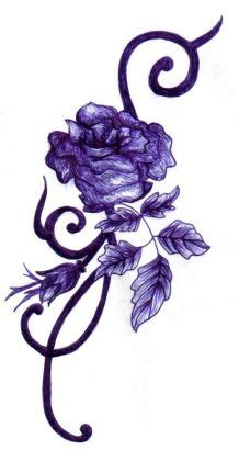 purple rose tattoo tattoo from itattooz