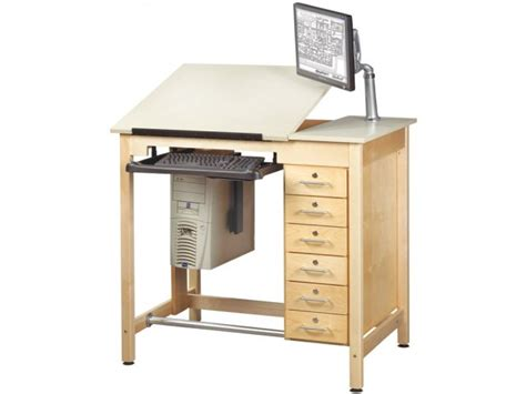 Cad Drawing Table W Storage Drawers Cdt 4230d Drafting Drafting Table Storage