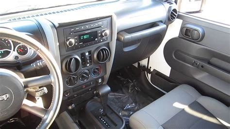jeep wrangler 2009 interior 2010 jeep wrangler white stock b2319a interior