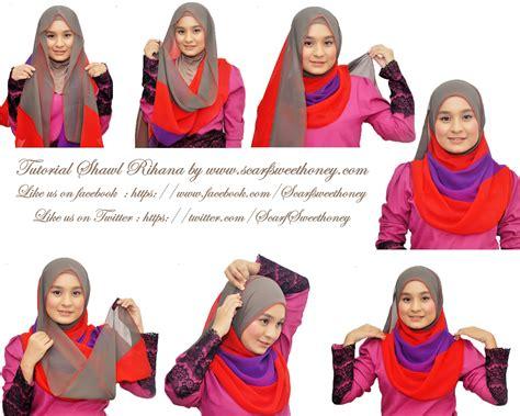 tutorial shawl unik hijab tutorial scarf sweethoney