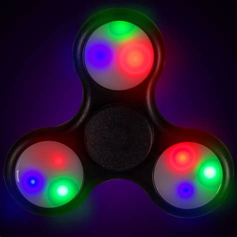 lit up light up black fidget spinner