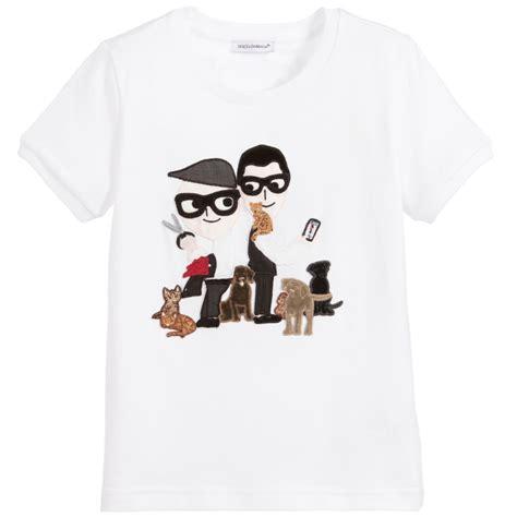 Tshirt D dolce gabbana white d g family t shirt childrensalon