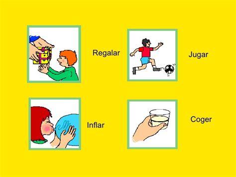 imagenes en ingles de acciones los verbos son acciones
