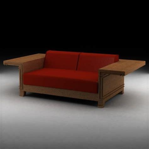 Frank Lloyd Wright Sofa by 3d Model Frank Lloyd Wright Classic Sofa