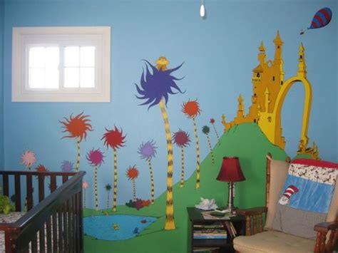dr seuss wall murals one fish two fish mural wall and two fish on