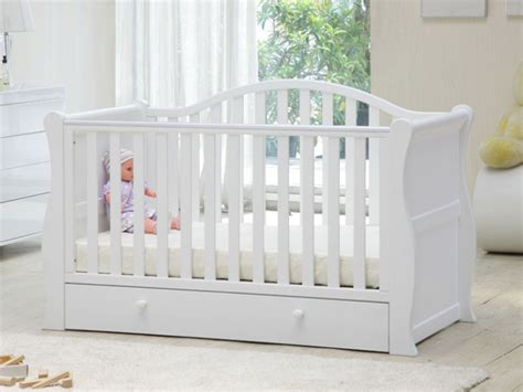 Babylo Crib by Babylo Vermont Sleigh Cot Bed White Bambinos Wexford