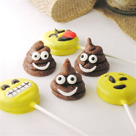 chocolate emoji chocolate poo emoji cookies easybaked