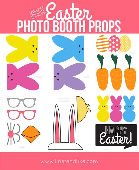 Printable Easter Photo Booth Props | easter free printable photo booth props capturing joy