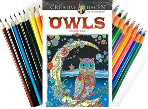 colored pencils for creative coloring books creative owls coloring book coloring book