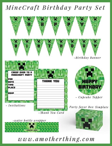 Minecraft Thank You Card Template by 1000 Ideas About Minecraft Invitations On