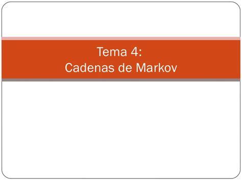 cadenas de markov que es cadena de markov