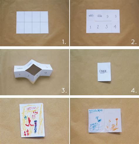 How To Fold A Paper Into A Book - bookhoucraftprojects project 165 diy story book from