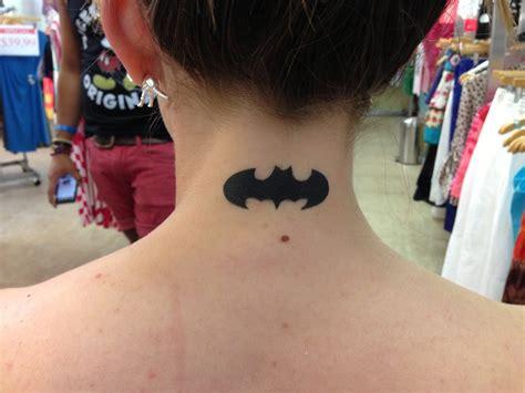batman tattoo on neck batman on the neck airbrush tattoo airbrush pinterest