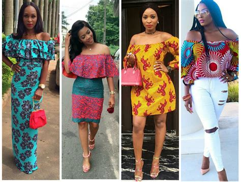 Super Trendy And Latest Off The Shoulder Ankara Styles