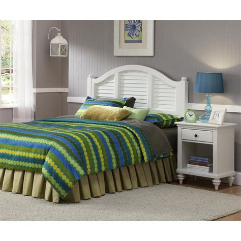 shop home styles bermuda brushed white bedroom set