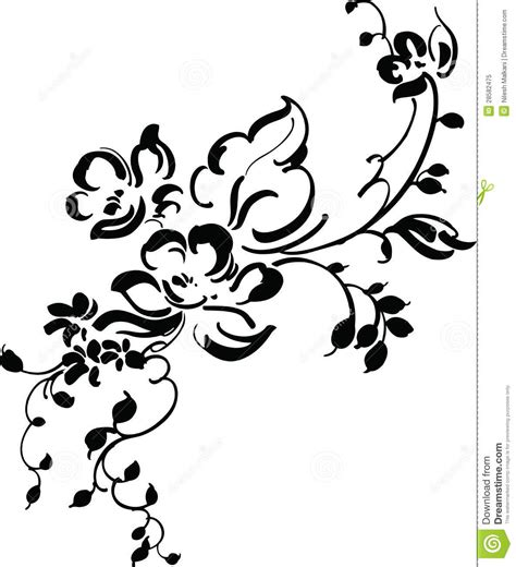 vintage floral design stock vector illustration of