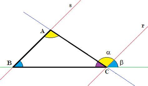 somma angoli interni somma degli angoli interni di un triangolo