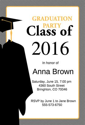 free graduation invitation templates top 18 graduation invites for your inspiration