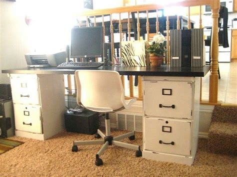 How to turn a file cabinet into a desk   DIY projects for