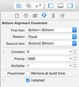 xcode autolayout pin xcode6 i add a quot align quot constraint but xcode add a quot pin
