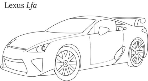 lexus lfa drawing super car lexus lfa coloring page for kids