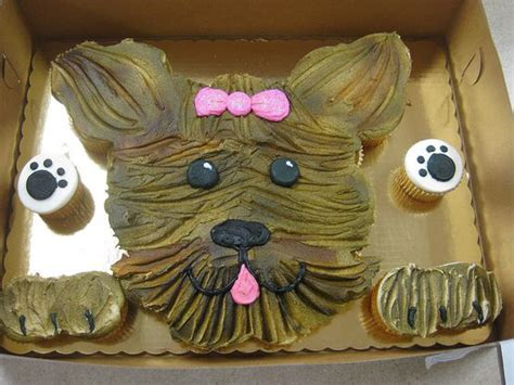 how to make yorkie cupcakes yorkie cake with printable template tutorial photos