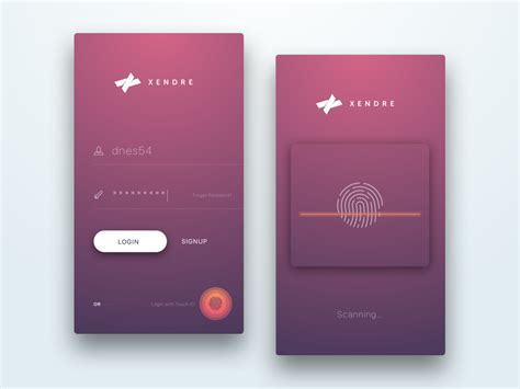 live login mobile 20 material design mobile login and signup forms on air