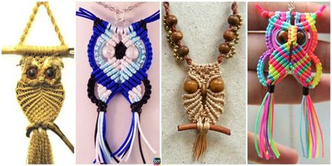 diy rainbow macrame owls  tutorials diy