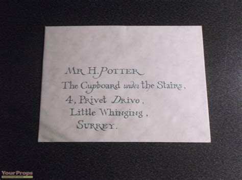 Hogwarts Acceptance Letter Prop harry potter and the philosopher s flying hogwarts
