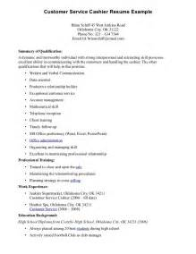 resume for a cashier exle exles of resumes