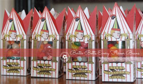 harry potter party favors including bertie botts every