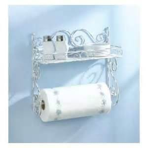 shelf paper towel holder chrome plated metal new