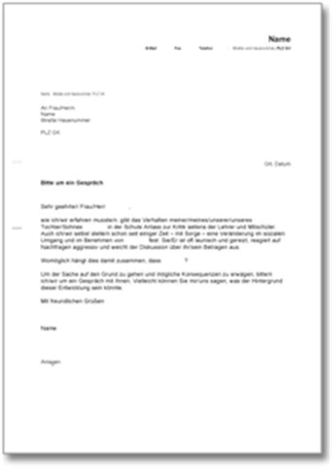 Musterbrief Einladung Mitarbeitergespräch Bitte Um Ein Lehrer Eltern Gespr 228 Ch Ch Musterbrief