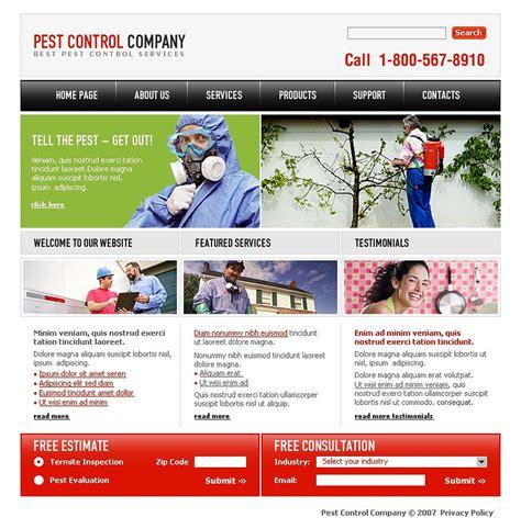 Pest Control Website Template 16666 Pest Website Template