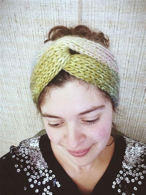 how to knit a simple headband easy brioche turban allfreeknitting