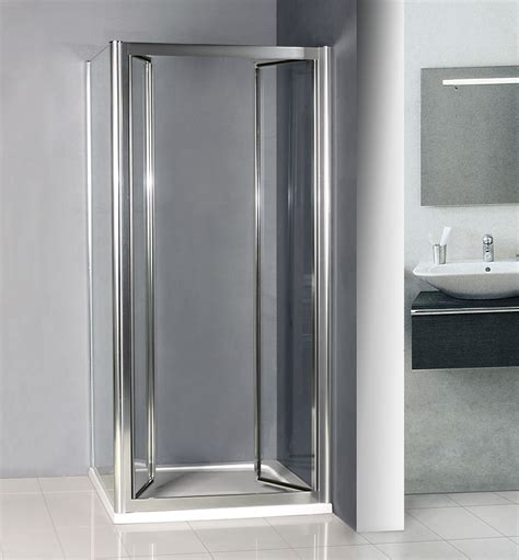 Space Saving Shower Doors 760x760mm Double Pivot Shower Door Enclosure Inward Space