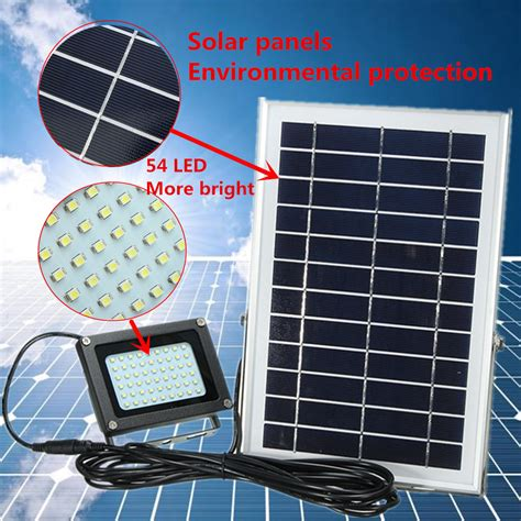 led security flood light solar solar powered 54 led waterproof outdoor security panel